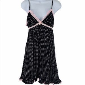 Rene Rofe Sleepwear Pink Polka Dot Nightie